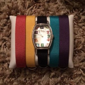 Accessories - Colorful Watch Set with 5 Bands